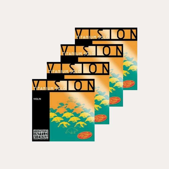 VIOLIN STRING THOMASTIK VISION TITANIUM SOLO SET
