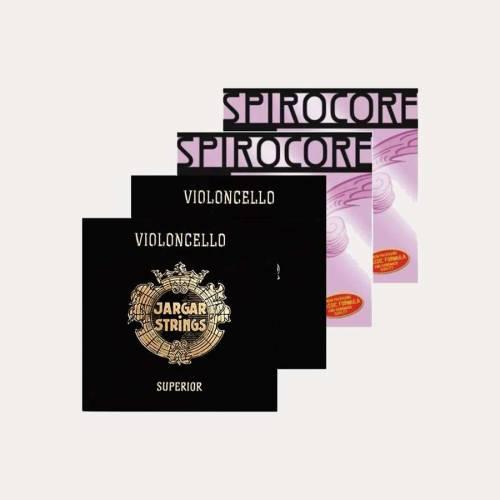 PACK JOC CORDES CELLO JARGAR VERMELL SUPERIOR I SPIROCORE WOLFRAMI