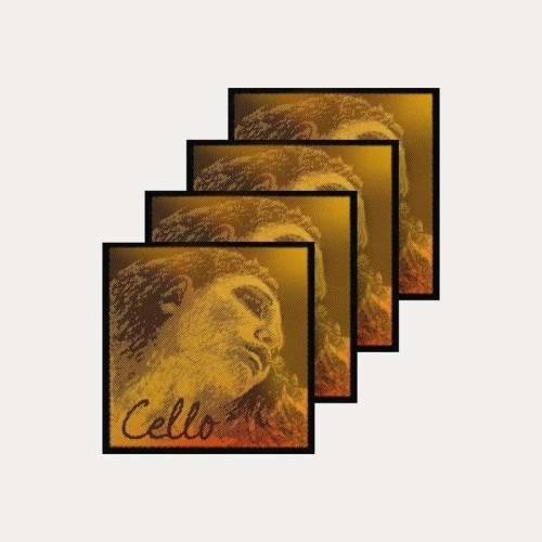 CELLO STRINGS PIRASTRO EVAH PIRAZZI GOLD SET