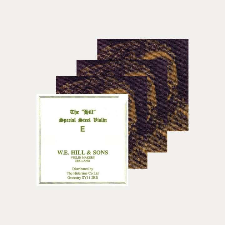 PACK VIOLIN STRINGS SET HILL & EVAH PIRAZZI GOLD