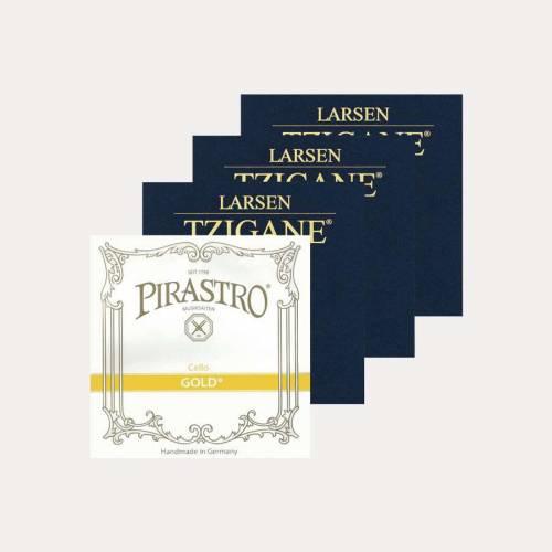 PACK VIOLIN STRINGS SET PIRASTRO PIRASTRO GOLD & LARSEN TZIGANE