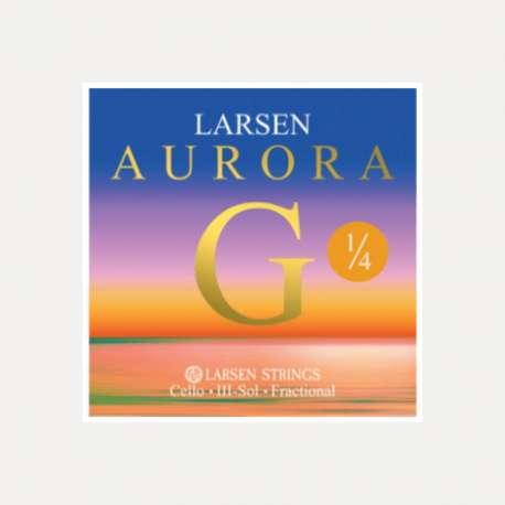 CUERDA CELLO LARSEN AURORA 3a SOL 1/4