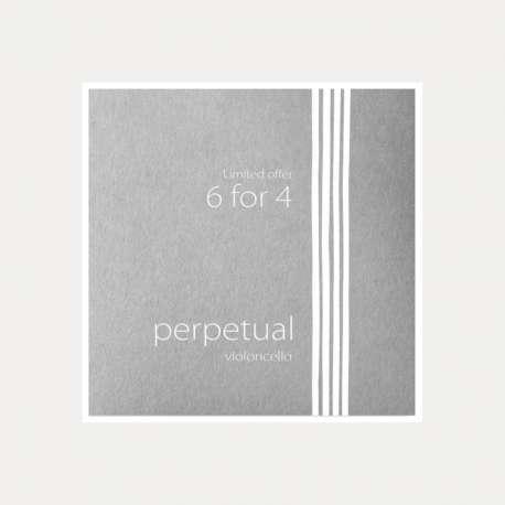 CELLO PIRASTRO PERPETUAL TOOLBOX 6x4 STRING SET