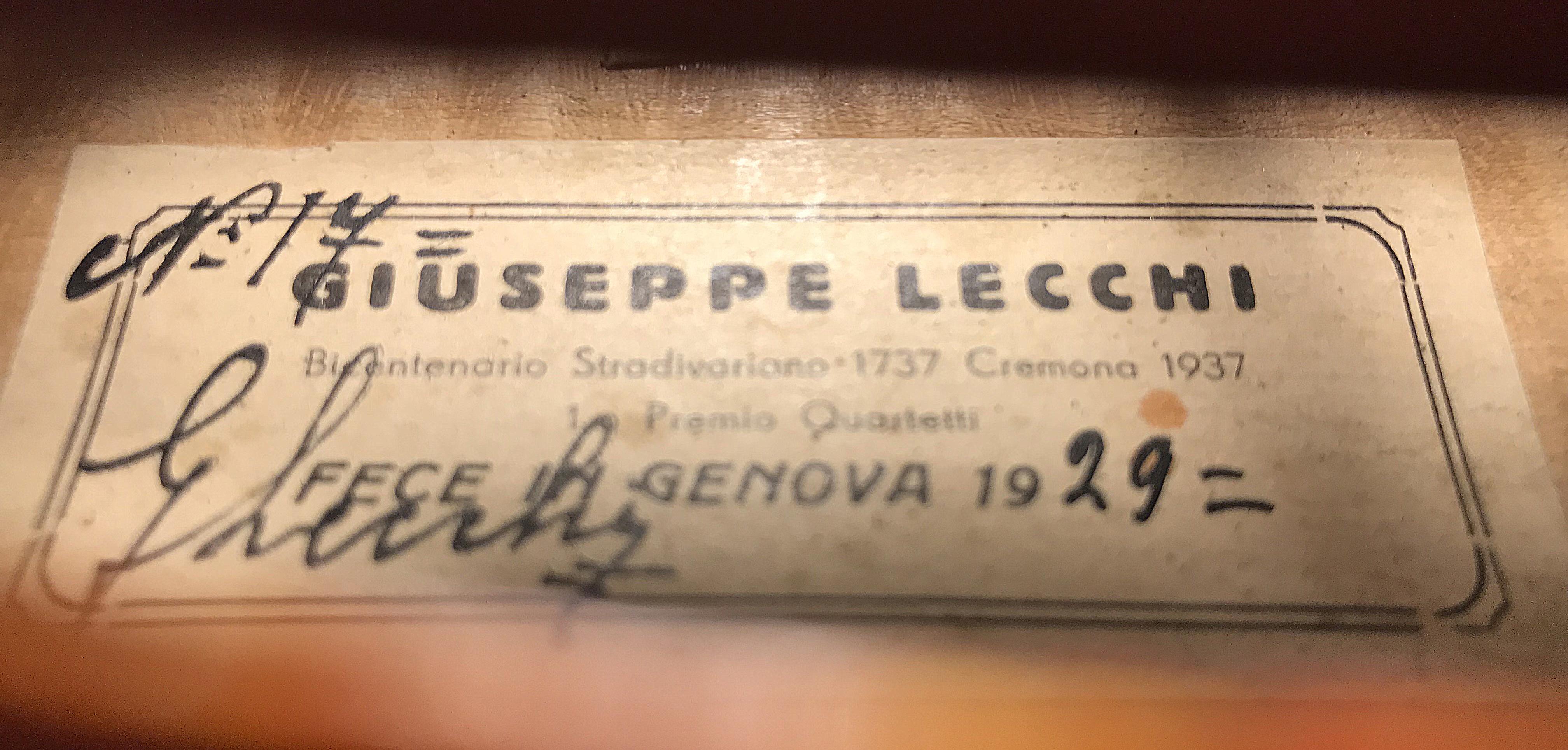 Violín Giuseppe Lecchi 1929