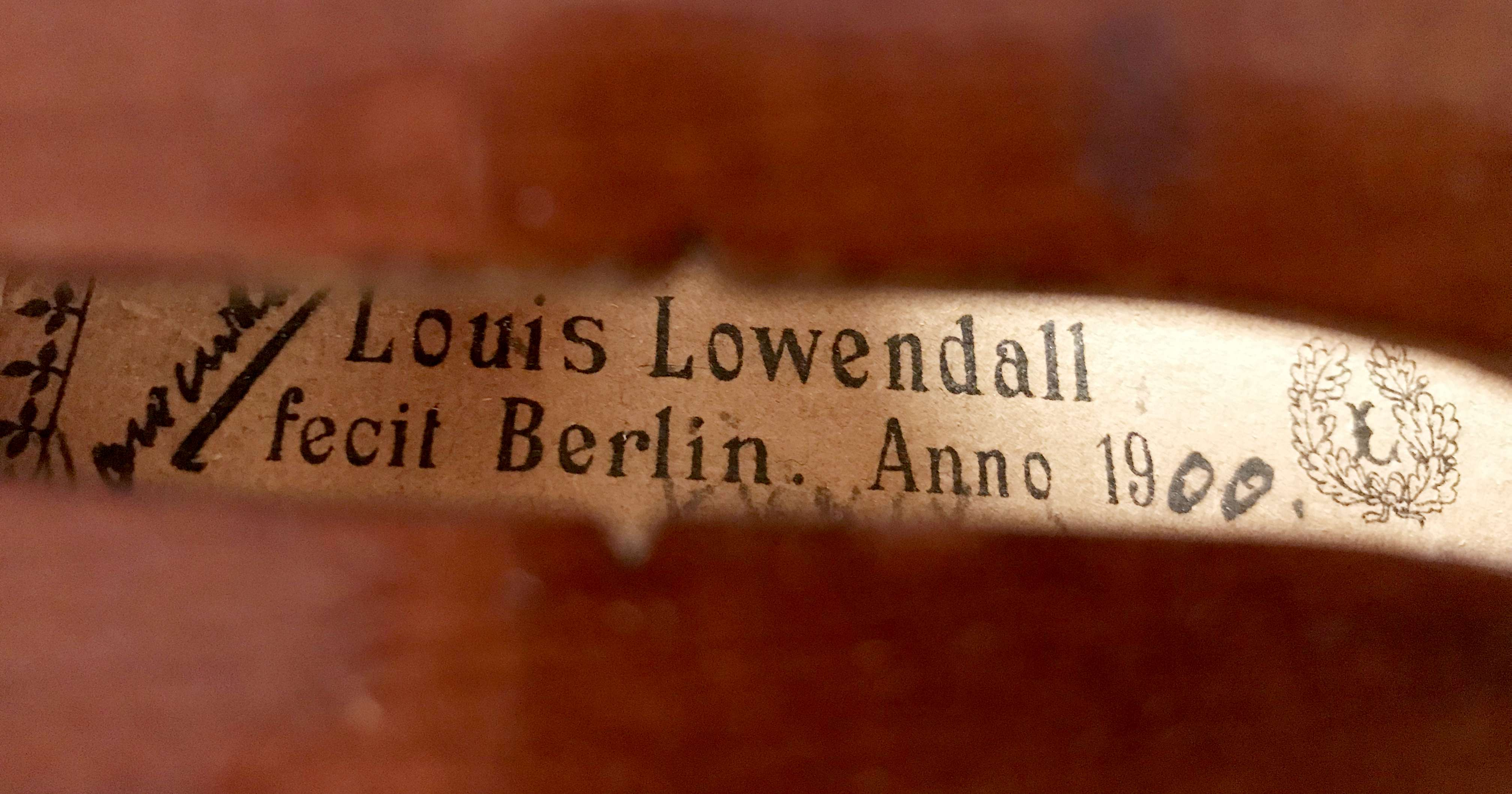 Violin Louis Lowenthal
