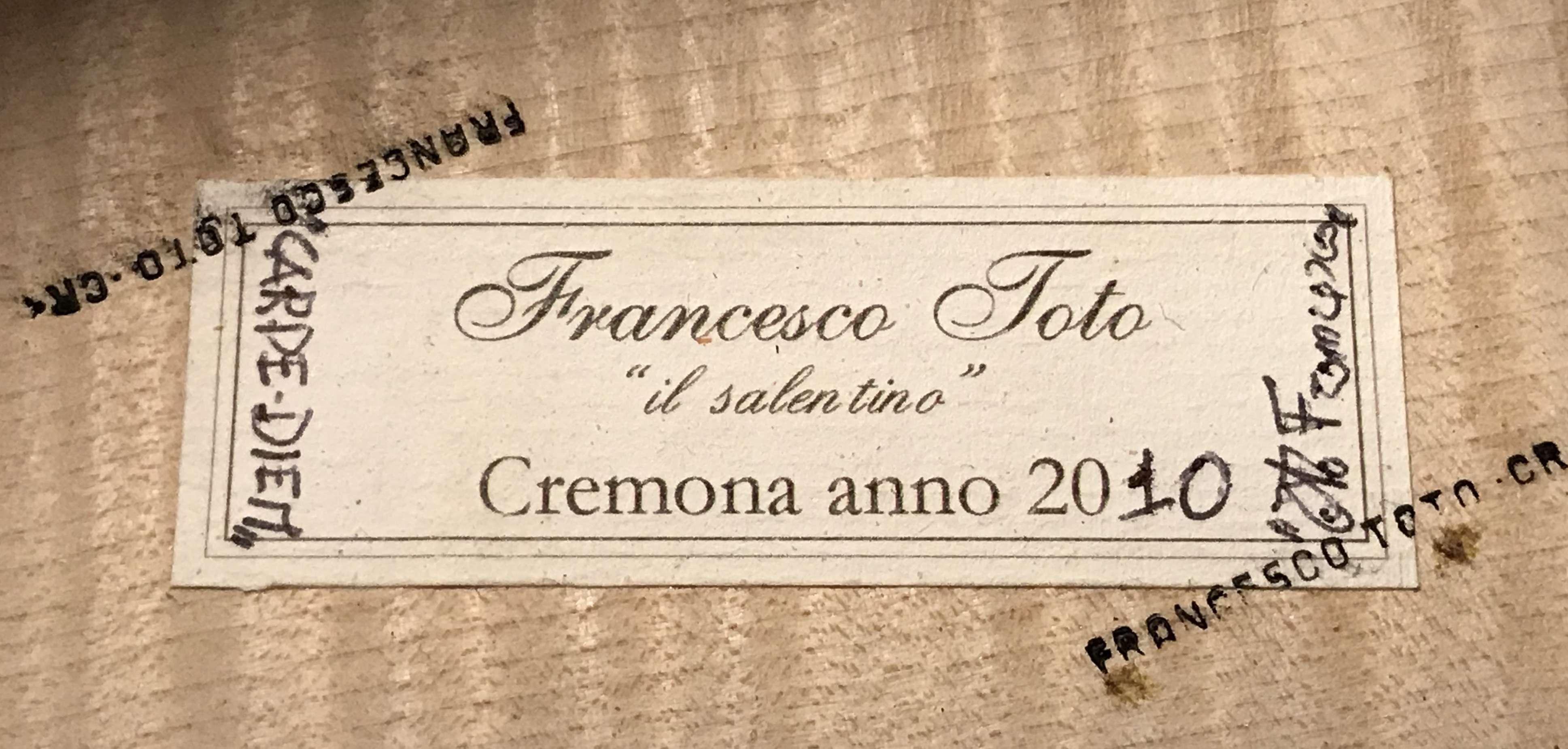 Francesco Toto cello cremona