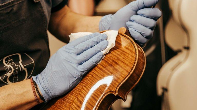 Desinfectar violí