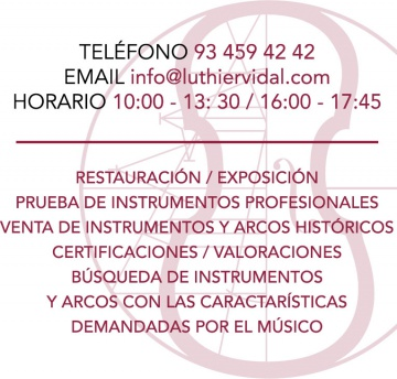 Contacto Luthier Vidal